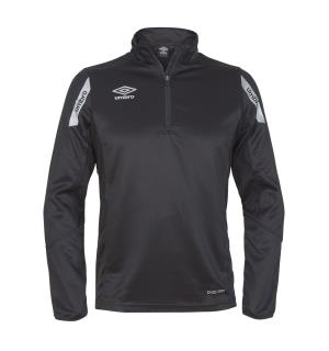UMBRO Core Sweat Half Zip Sort XXL Treningsgenser i teknisk kvalitet